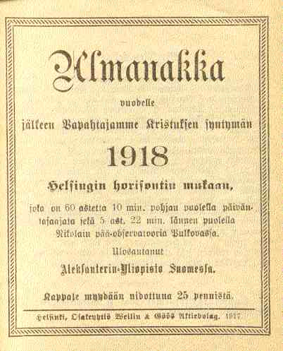 Poikien Nimet Almanakka