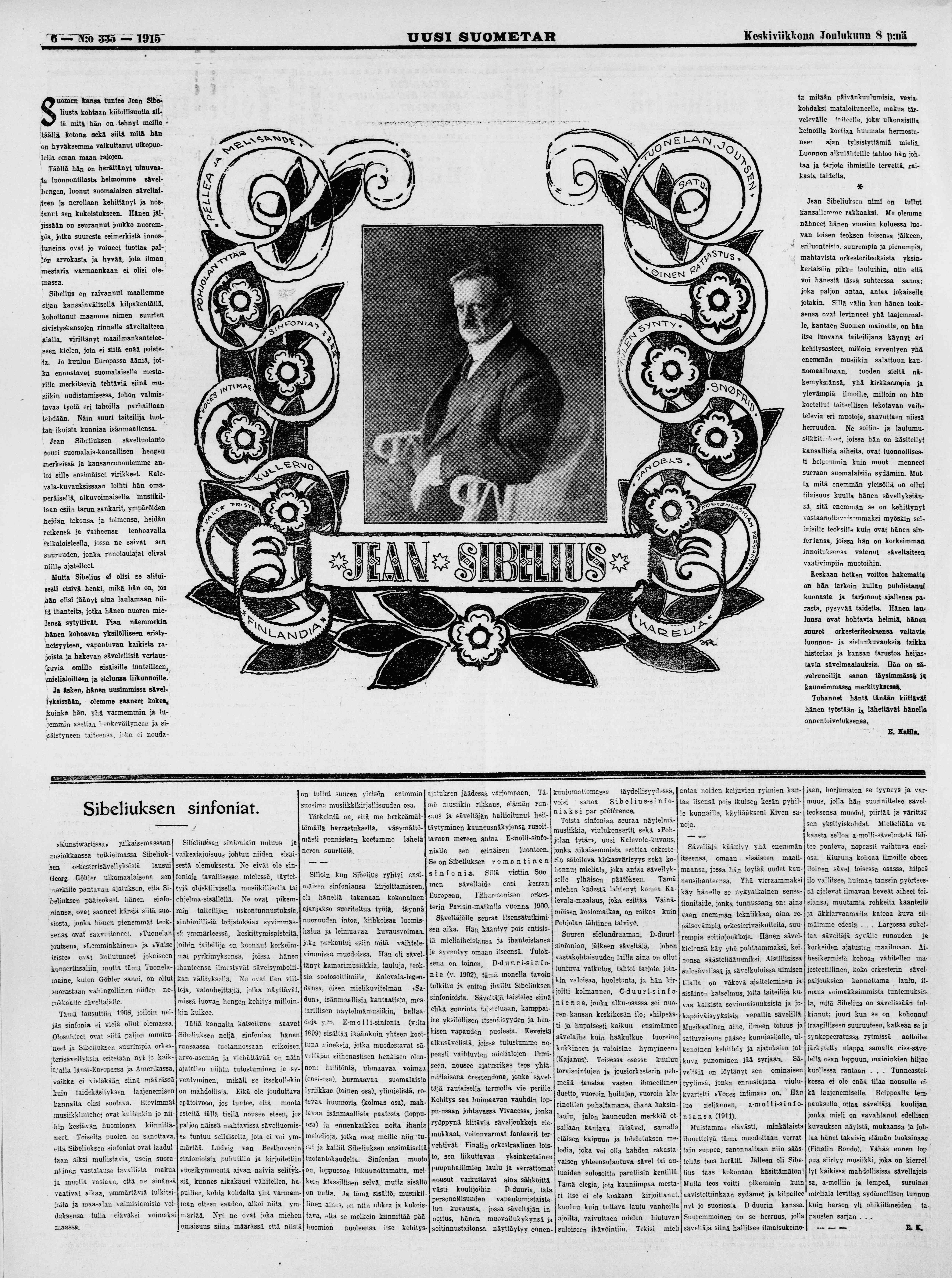 Uusi_Suometar_8.12.1915_Sibelius