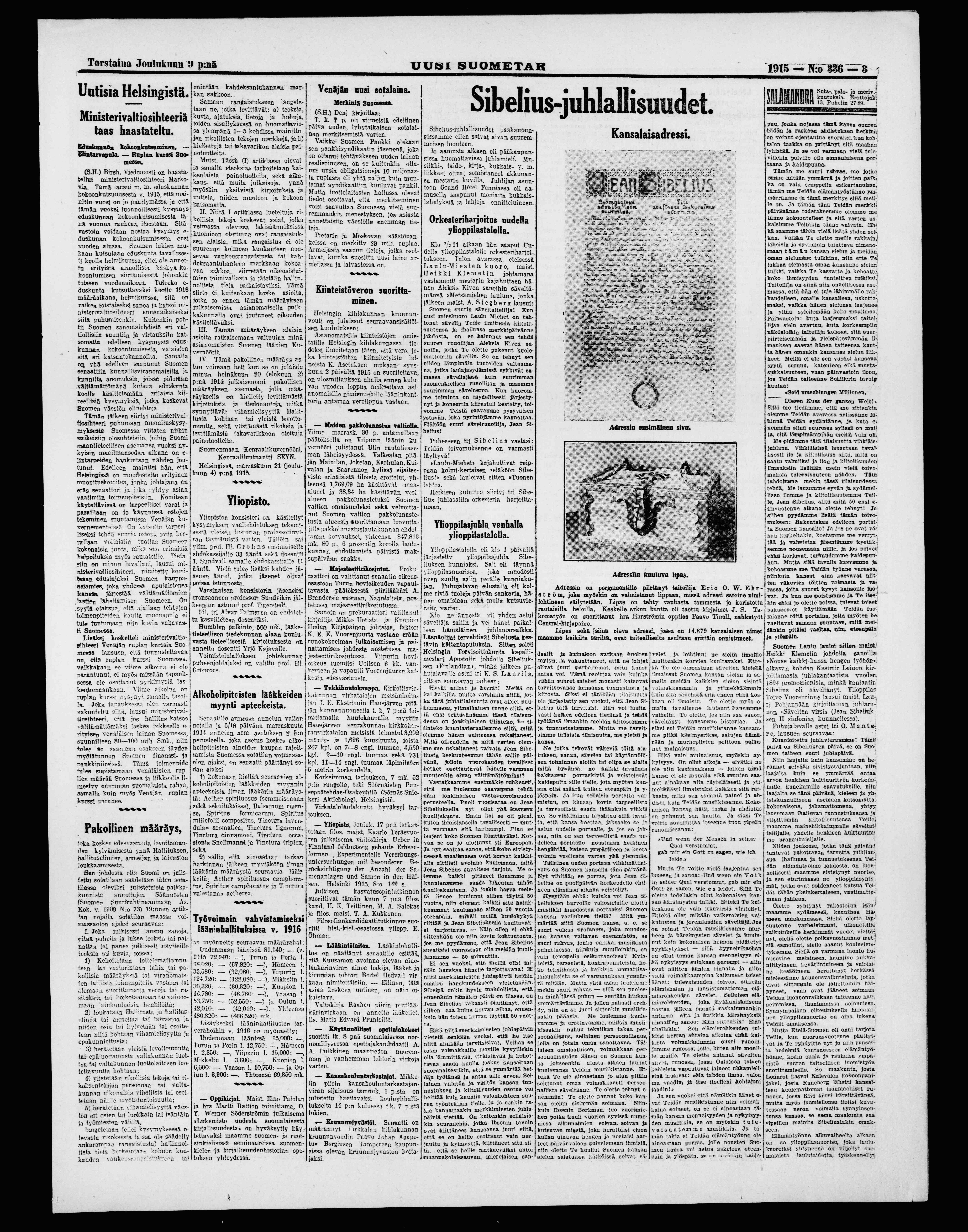 Uusi Suometar 9.12.1915