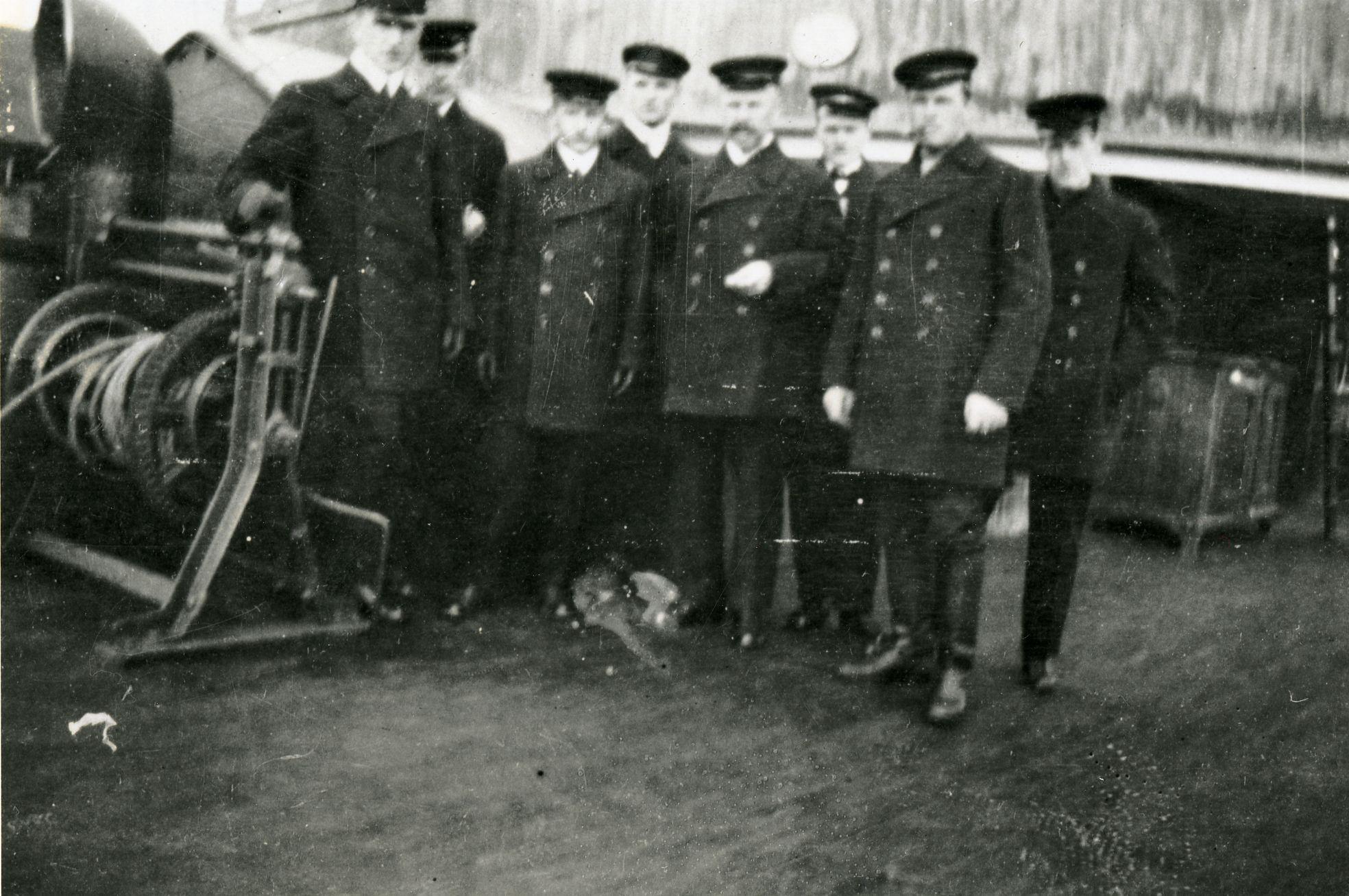 Höyryjäänmurtaja Tarmon kaappareita 3.3.1918. (Museovirasto)