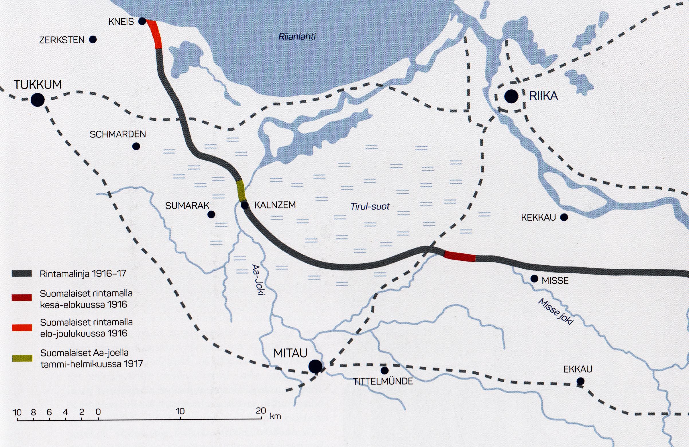 Jaakarit Siirtyivat Saksan Itarintamalle Kesakuussa 1916 Svinhuvfud