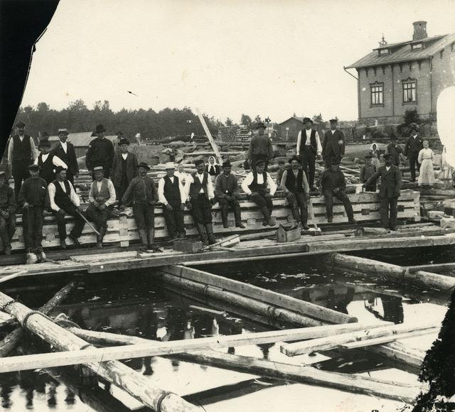 Hangon sataman kolmas laajennusvaihe toteutettiin 1919–1927. (Suomen Rautatiemuseo)