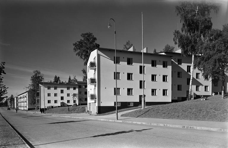 Olympiakylä valmistui Käpylään 1940. (A. Pietinen Oy / Helsingin kaupunginmuseo)