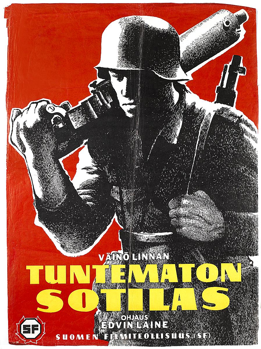 Tuntemattoman sotilaan mainosjuliste vuodelta 1955. (KAVI)
